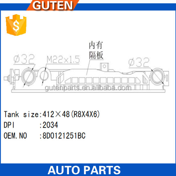 Guten top Precision injection mould for auto radiator plastic tank OEM: 8D0121251BC