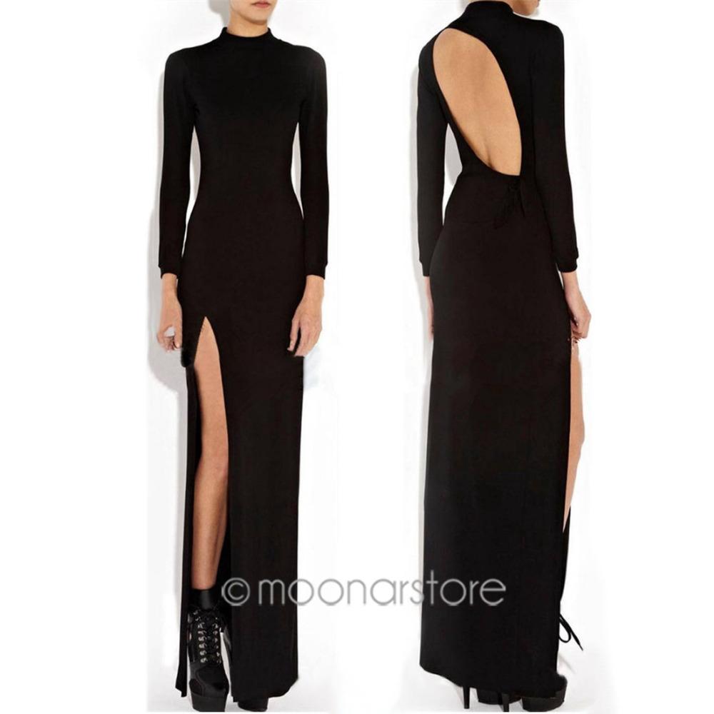 Cheap Long Sleeve Thigh Split Dress, find Long Sleeve Thigh Split ...