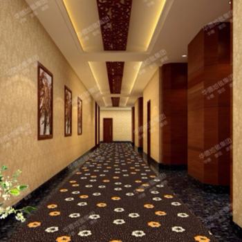 5 Star Hotel Corridor Carpet Fl Design 100 Nylon Printed Apartment Roll