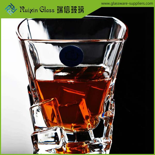 Newest Style crystal diamond glasses,crystal glassware,clear round whisky glass manufacturer