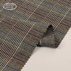 Italian style TR yarn dyed custom polyester viscose weft spandex check men's suit fabric
