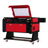 BEST VEVOR 80W CO2 Laser Cutting Machine 700*500mm with Rotary Axis 3d laser engraving machine