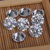Wholesale white color round shape brilliant cut &star cut 1mm 2mm 3mm cubic zirconia loose gemstone