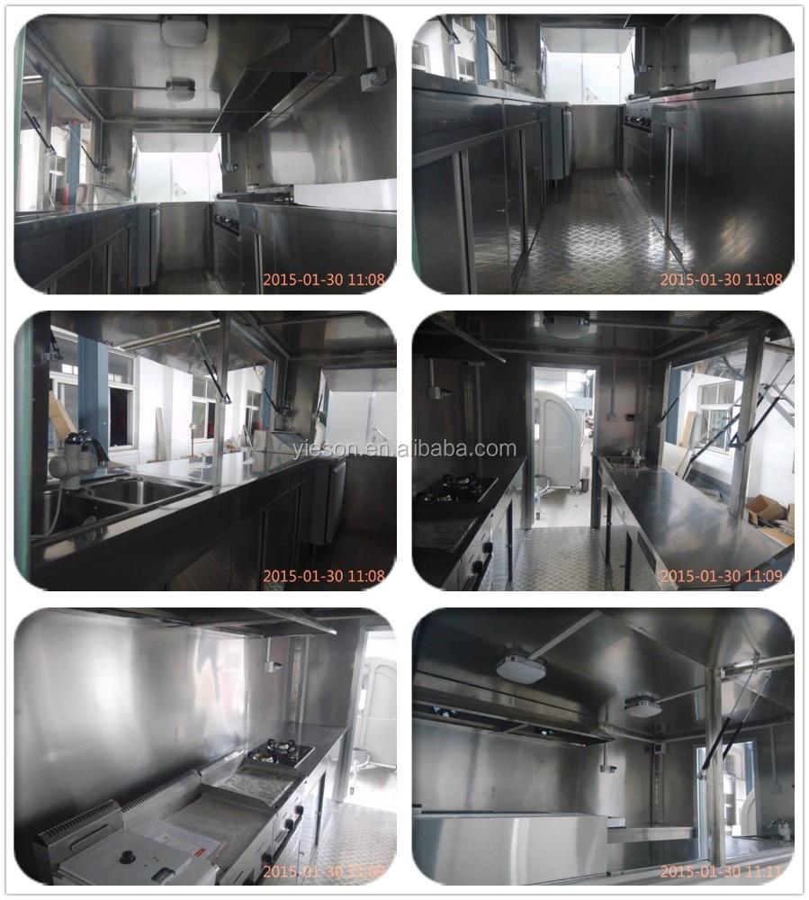 nieuwe mobiele yieson bbq voedsel trailer te koop getrokken food ...
