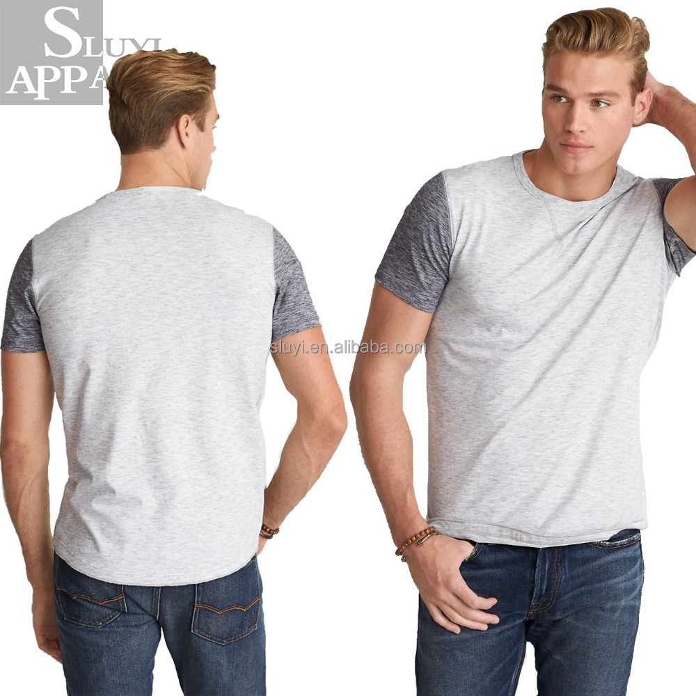 Personalized 100 Cotton 180 Gsm T-shirts For Men,OEM Patchwork Colorblock Crew T-shirts Wholesale China For Mens Clothing