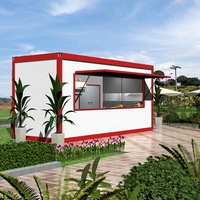 Well-desighed prefabricated shipping container coffee shop