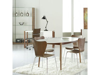 White Oval Dining Table, Round Walnut Dining Table