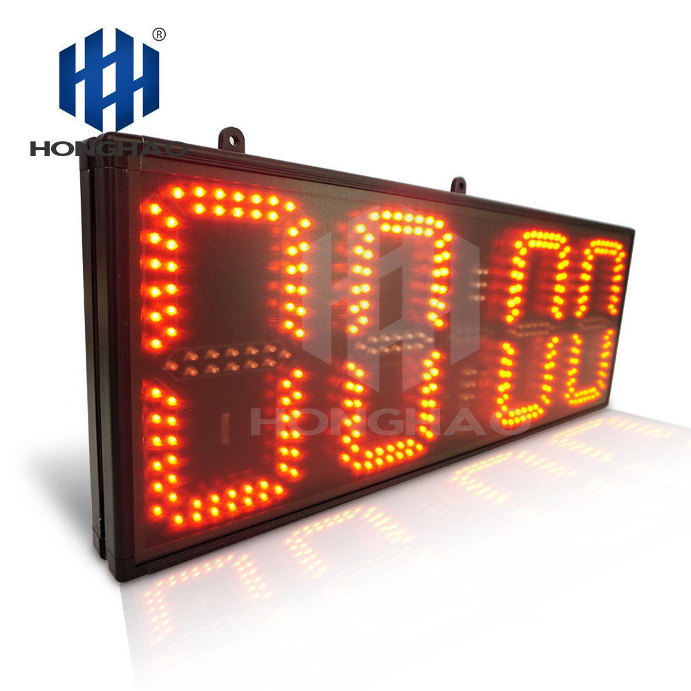 "Honghao 8"" 4 Digit Large Count Up Remote Control LED Countdown Sports Timer"