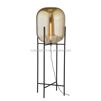 Decorative Glass Floor Lamp Oda Big Floor Standing Lamp Unique Glass ...