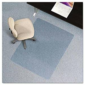 """Es Robbins - 46 X 60 Rectangle Chair Mat Task Series Anchorbar For Carpet Up To 1/4"""" """"Product Category: Office Furniture/Chair Accessories"""""""