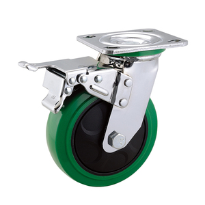 PU wheel 8*2 inch large capacity 400kgs swivel with brake industrial caster wheel