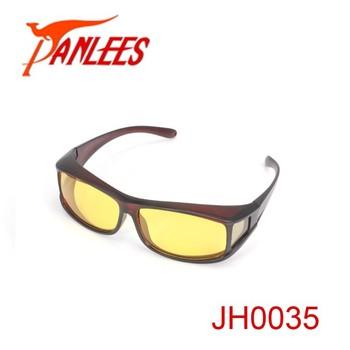 63e7712347 Panlees night vision fishing fit over glasses sunglasses uv400 tac polarized  myopia glasses fold over elastic