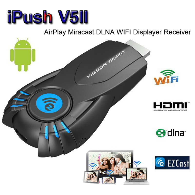 VSMART V5ii TV Stick Ezcast DLNA Miracast Airpaly TV Dongle for iPhone 5 5S Android Smart Phone VS Chromecast MK808 W1 W2