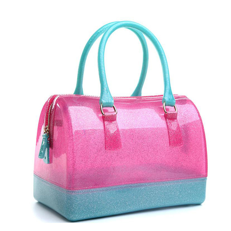 8e09fd089c Buy Brand NEW women bag fashion candy color transparent beach bags ladies  girls summer pillow jelly bag bolsa feminina 12COLORS in Cheap Price on  m.alibaba. ...