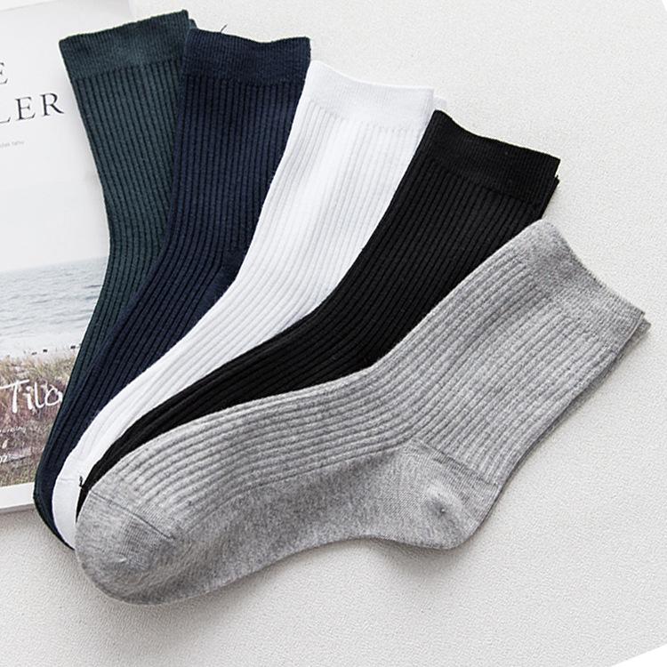 Özel toptan erkekler iş çorabı, kız düz beyaz çoraplar
