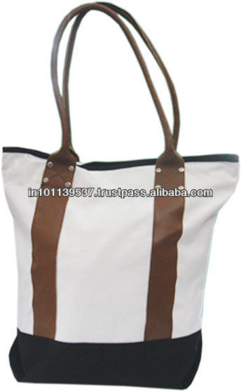 Canvas Leather Tote Bags