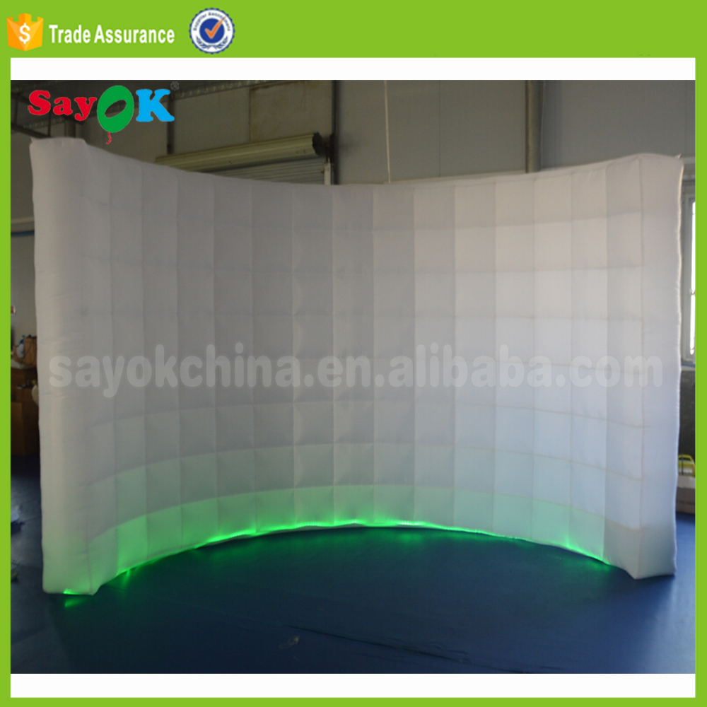 Used Portable Selfie Led Inflatable 360 Photo Booth Backdrop For
