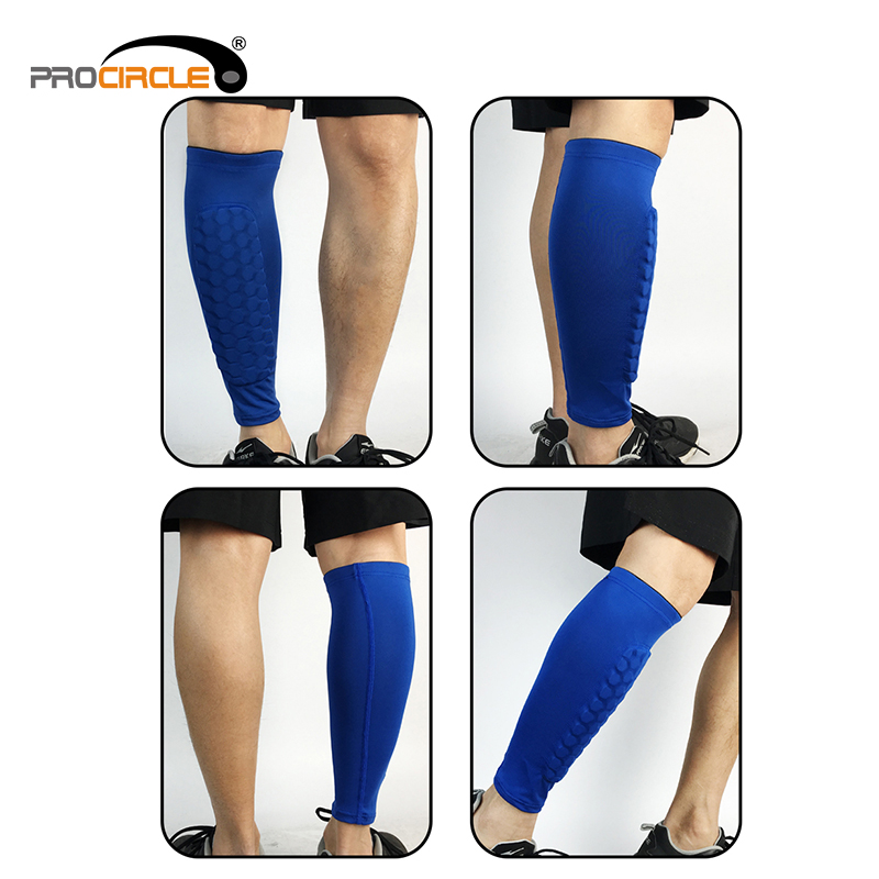 New Design Elastic Impact Protection Polyester Calf Support Sleeve