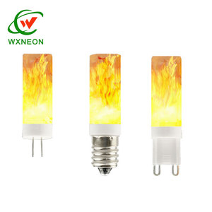 G9 G4 replacement led flame effect fire light bulb lamp