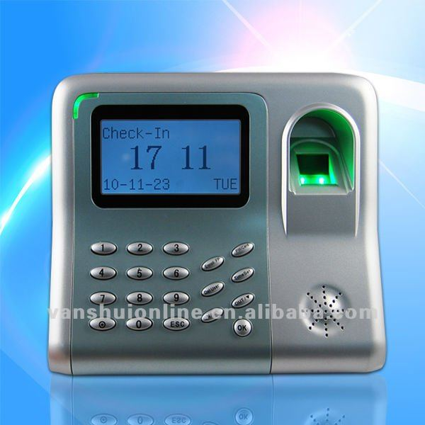 Desktop simple fingerprint time attendance Built-in back up Li-Battery support 4 hours continous operation