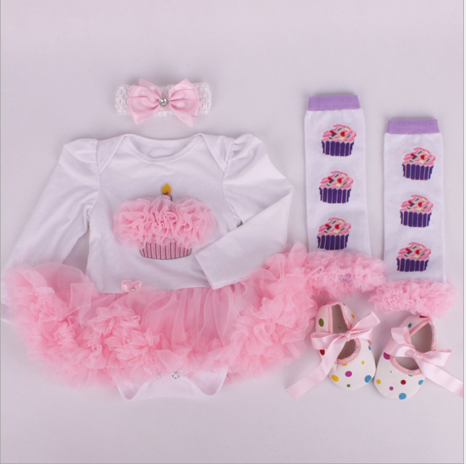 a68c8a58d Baby Rompers 3pcs Infant Clothing Set Baby Girls White Pink Jumpsuit ...