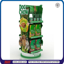 TSD-M419 Dog food display giratório stand/floor standing personalizado <span class=keywords><strong>peg</strong></span> food stand/aço fio rotate stand