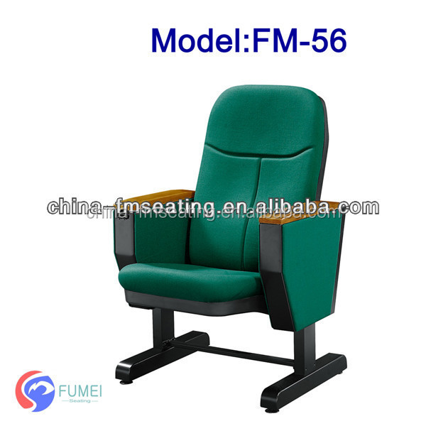 Economical simple activity steel legs auditorium seating with writing pad FM-56-1