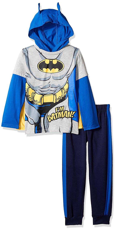 ef07d4d027 Get Quotations · DC Comics Boys  2 Piece Batman Hoodie Set with Mask