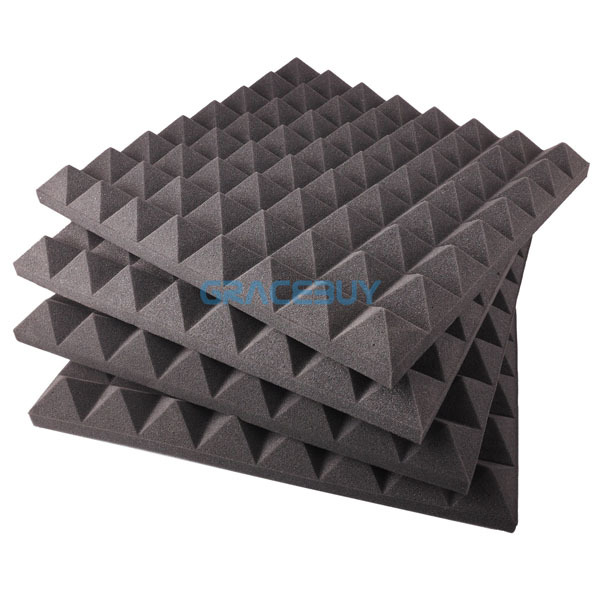 Acoustic Sound Proof Foam Sound Stop Absorption Treatment Proofing Colorful Foam Square pyramid sunken New