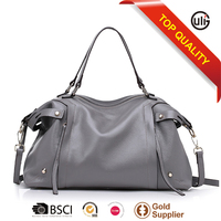 with SGS certification classic top layer leather lady hand bags women fashion hobo bags