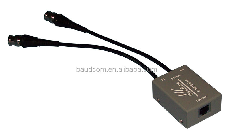 Made in China 2-8M E1 and E2 Data Streams G703 E1 Balun Fly Lead BNC Coaxial to RJ45 Adapter