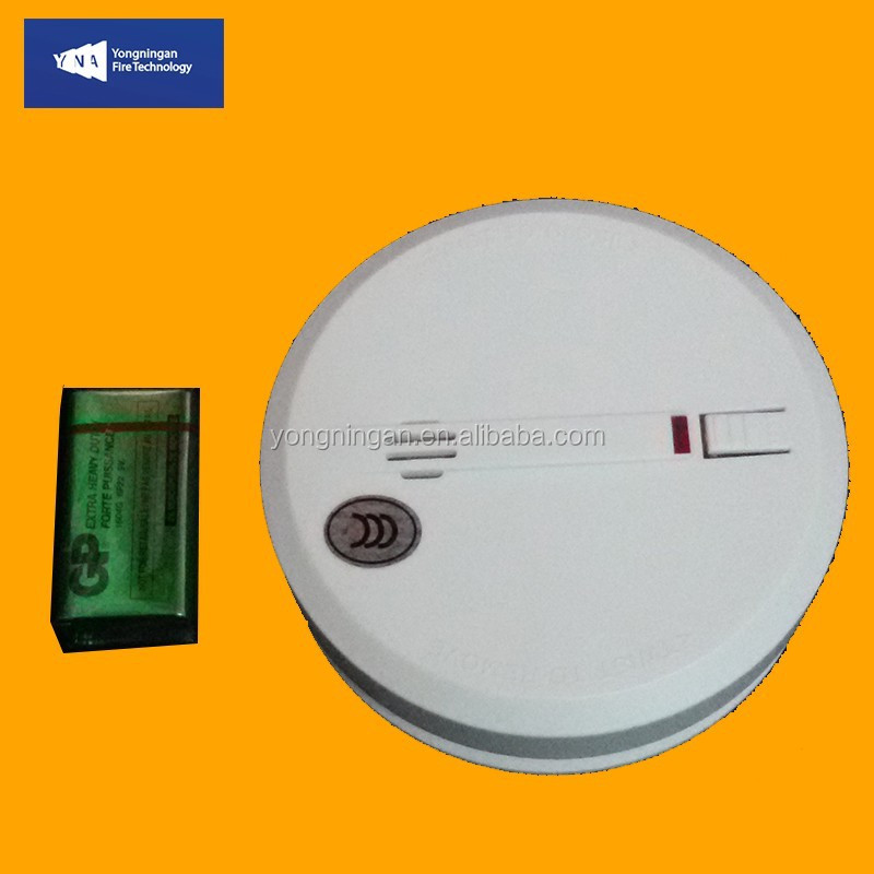 EN14604 VDS CE LPCB UL Approved 10 Years 9V Lithium Battery Operated Cigarette Smoke Detector
