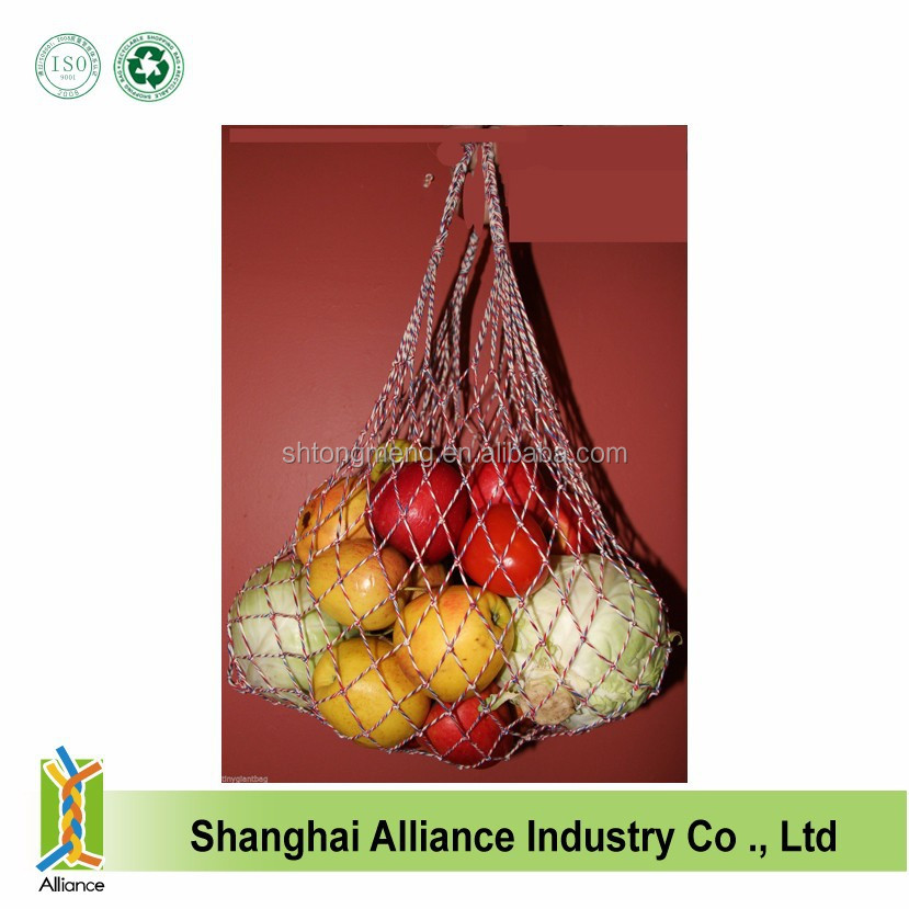 Eco shopping grocery Reusable Small Cotton Mesh drawstring net bag