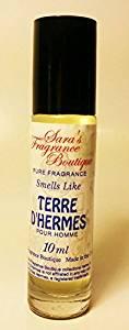 Sara's Fragrance Boutique Designer Oil Impression Of Terre d'Hermes For Men, 0.33 oz *Free Name Brand Sample-Vials With Every Order*