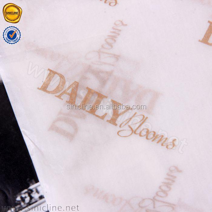 Sinicline metallic rose gold logo bianco del tessuto carta da imballaggio