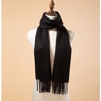 100% Cashmere Black Thicken Scarf Shawls Wool Pashmina Shawl/Wrap Scarves High Fashion