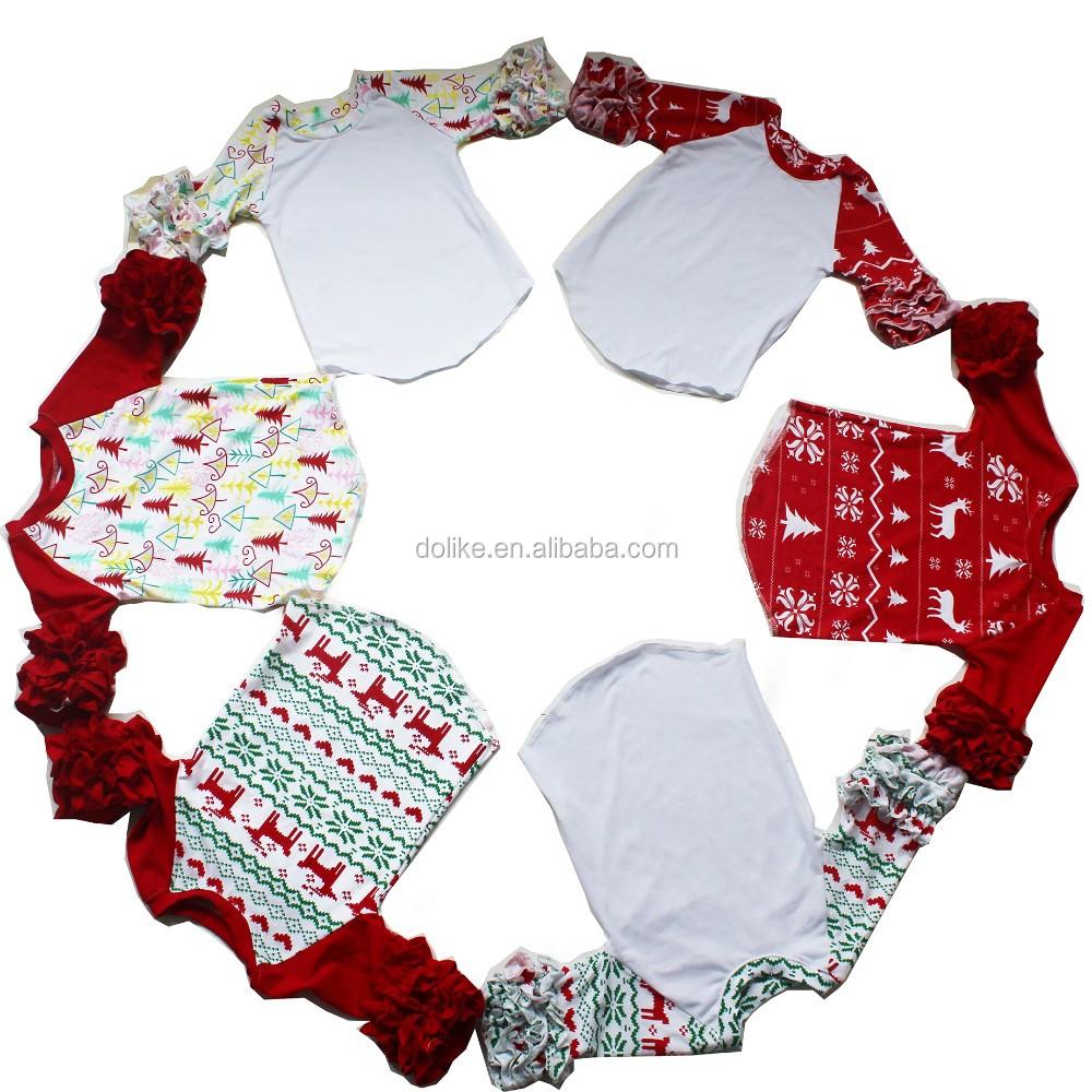 Wholesale Christmas Design Icing Ruffle Raglan Kids Raglan T-shirt ...