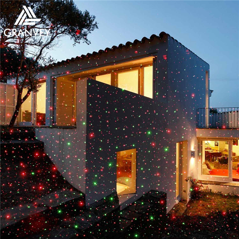 garden using star dots programmable led laser chrsitmas lights outdoor