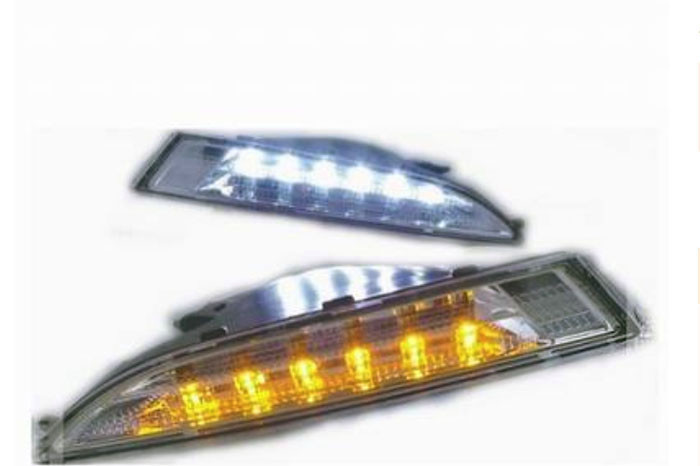 2x Car-Special LED DRL For VW Scirocco,With Yellow turning function Scirocco LED Daytime Running Light