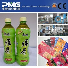 beverage hot shrinkable custom printed water bottle label for green tea / pvc shrink sleeve label