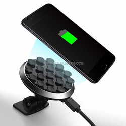 New Style Mobile Phone Holder Charger Suction Type QI Wireless Car Charger for iPhone 8 X