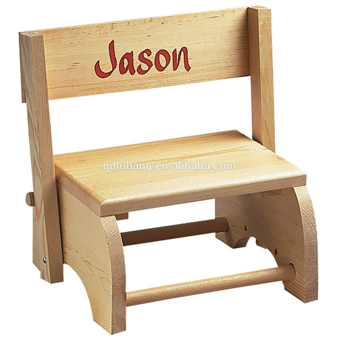 Wooden Personalized Children Chair Step