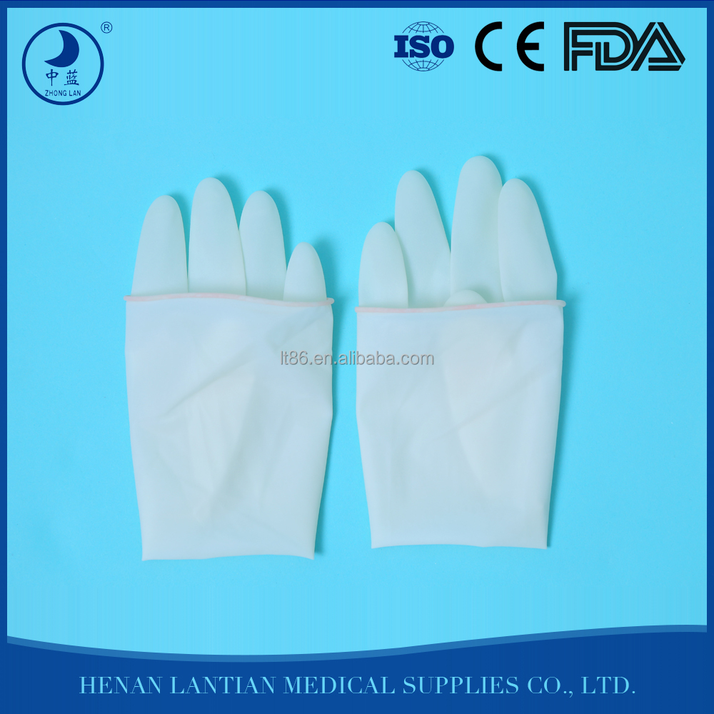 Medical Long cuff sterile latex free surgical gloves,dental latex gloves