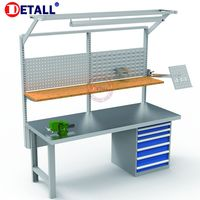 Detall Professional ESD work bench with bench vice