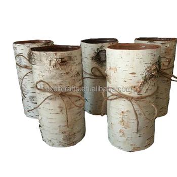 Manufacturer Rrustic Birch Bark Vases Buy Birch Bark Basket