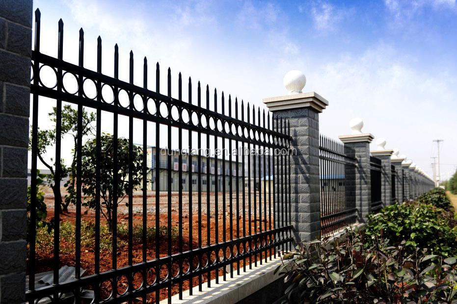 Haute qualit villa barri re de s curit en acier de zinc for Barriere de jardin pas cher