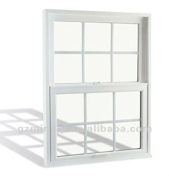 Pvc vertical sliding windows grill design for bay window for Vertical sliding window design