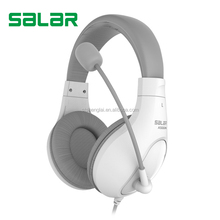 Newest super bass sound HiFi stereo leather A566N 3.5mm headband headphones with microphone