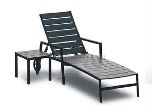 Outdoor beach aluminum furniture chairs wood sun lounger