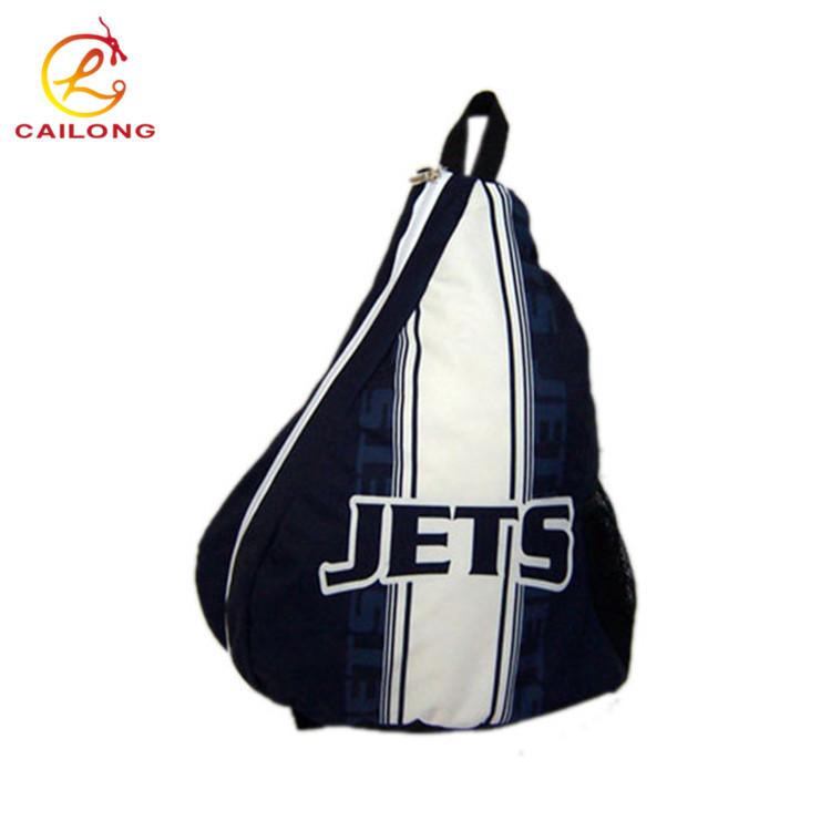Men Genuine Leather Sling Chest Crossbody Shoulder Triangle Travel Bag Pack Hi-Q